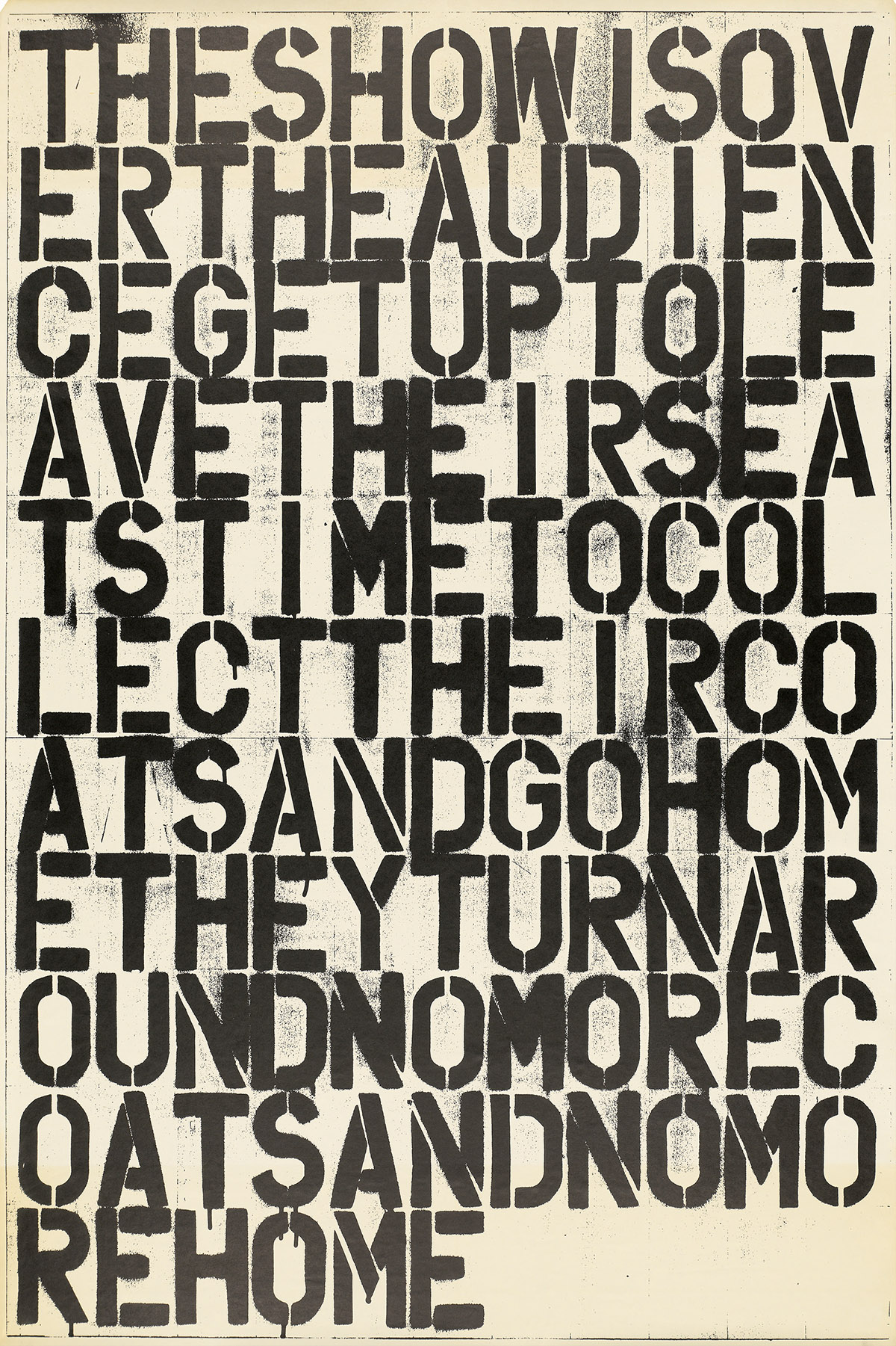 CHRISTOPHER-WOOL-(1955--)-THE-SHOW-IS-OVER-THE-AUDIENCE-GET-