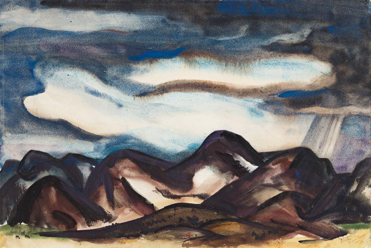 CHARLES ALSTON (1907 - 1977) Santa Ana Winds, Ariz. (Arizona).