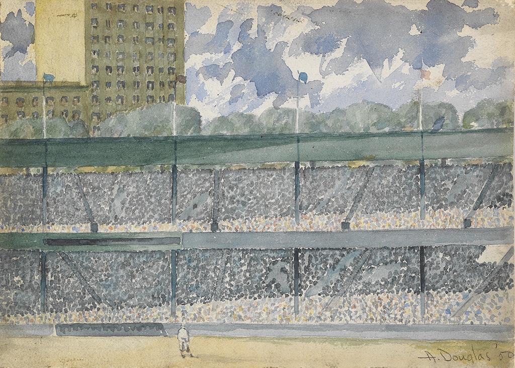 AARON DOUGLAS (1899 - 1979) Ebbets Field.