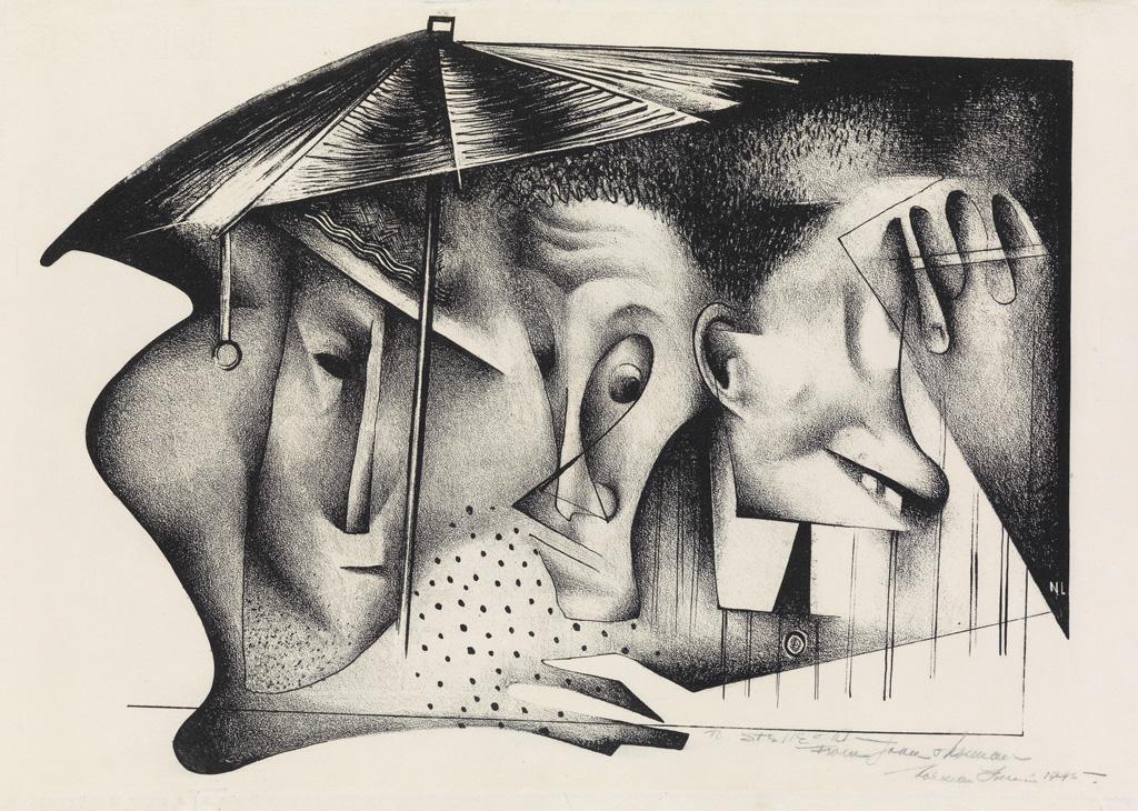 NORMAN-LEWIS-(1909---1979)-Untitled-(Umbrella)