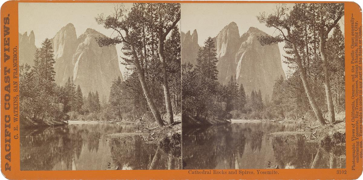 (ALFRED HART; ISAIAH TABER; C. BIERSTADT; J. SOULE; et alia) Group of more than 95 spectacular stereo views of the American West, San F
