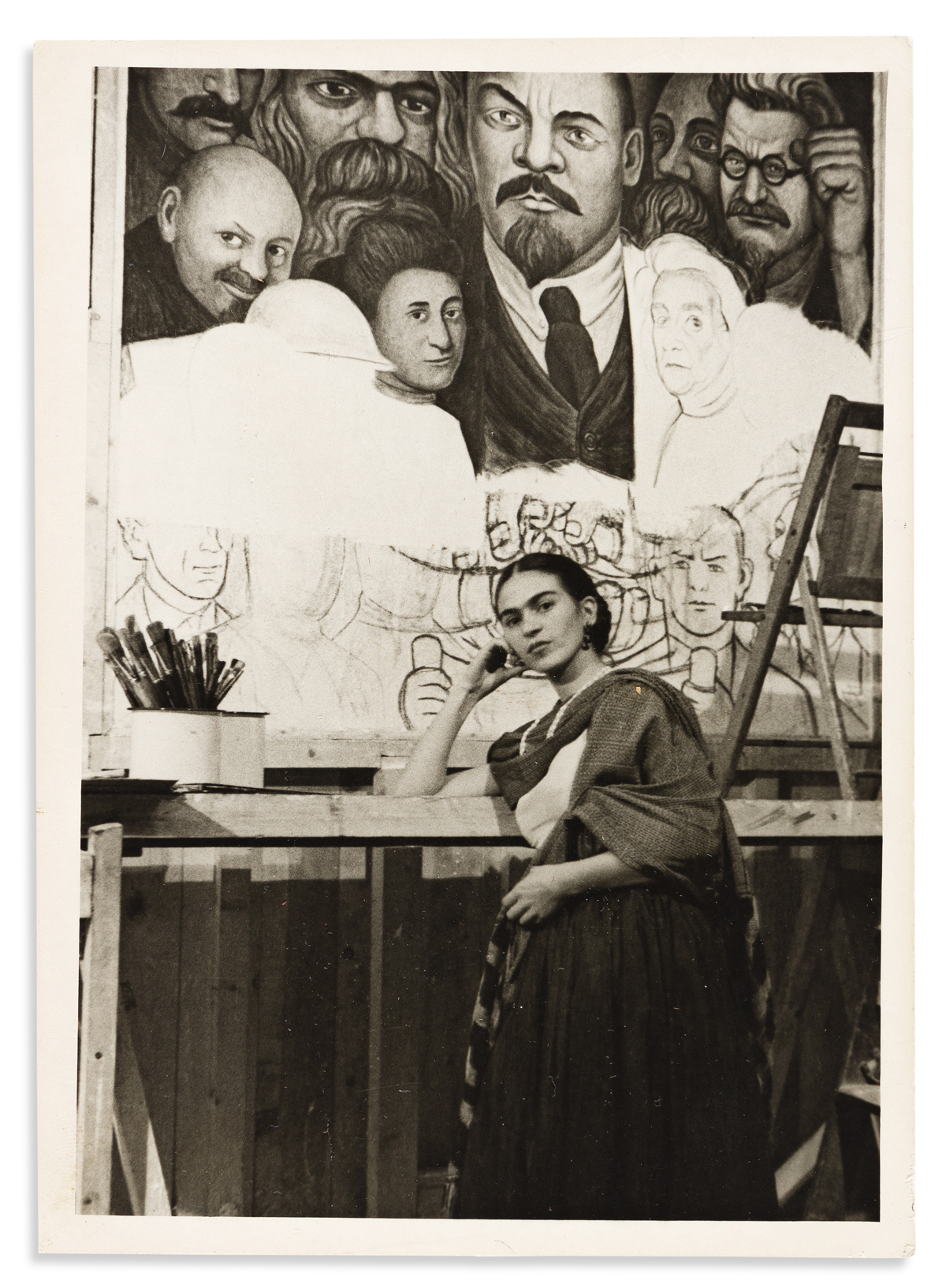 Kahlo, Frida (1907-1954) Photograph by Lucienne Bloch. Portrait, 1933.