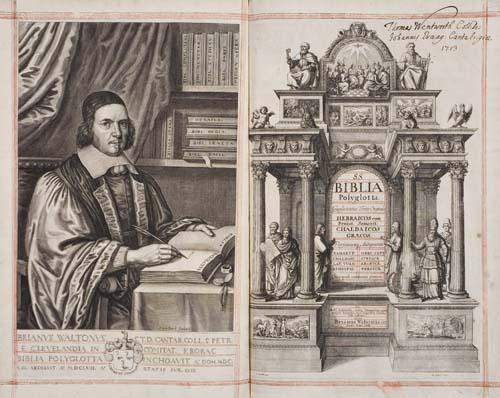 BIBLE--POLYGLOT--Biblia-sacra-polyglotta--6-vols--1655-57