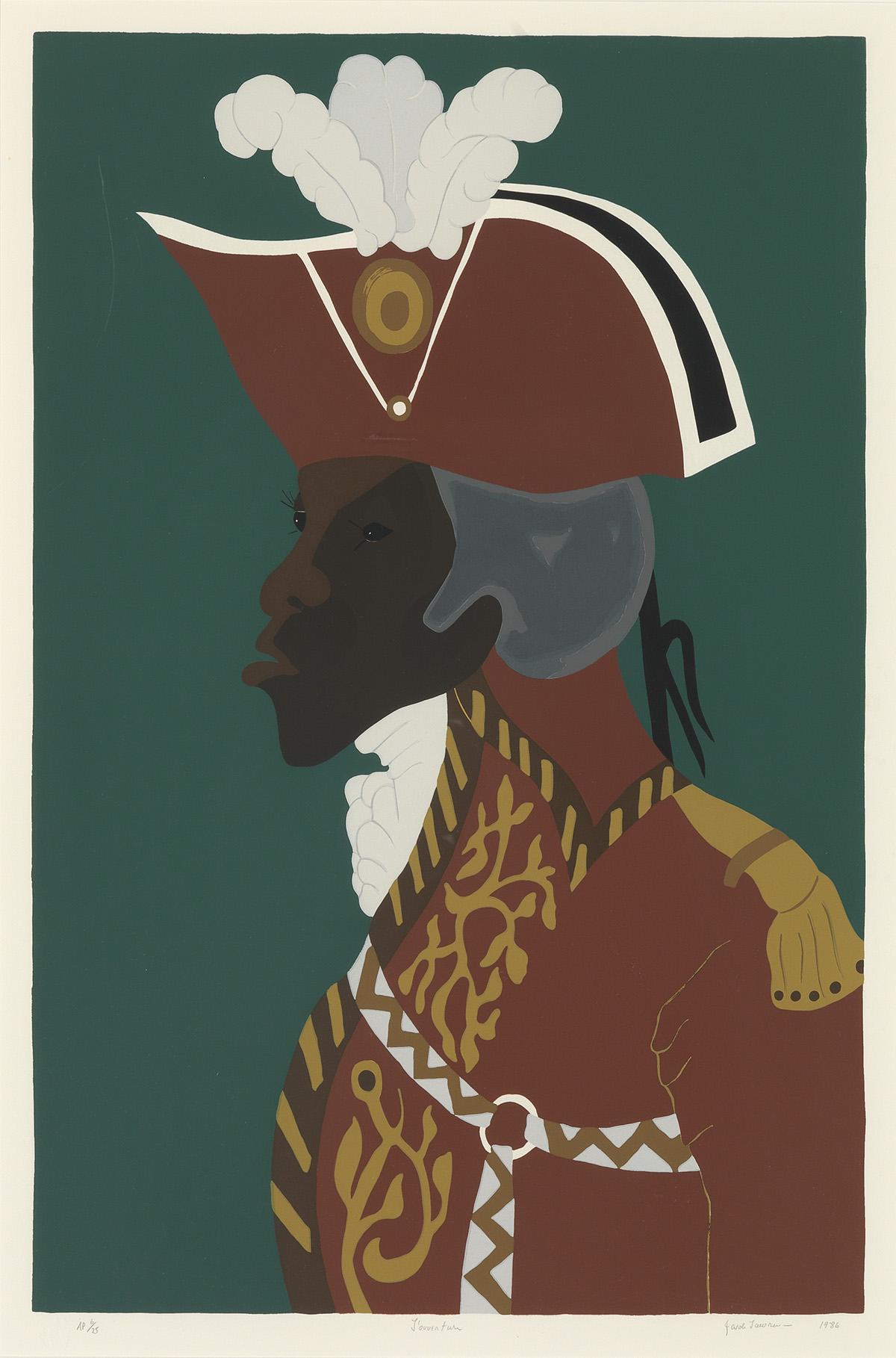 JACOB LAWRENCE (1917 - 2000) General Toussaint LOuverture.