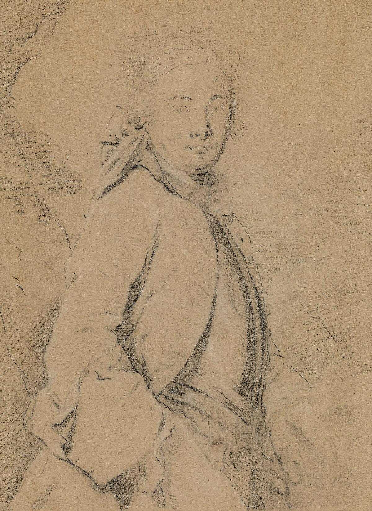 FRENCH-SCHOOL-18TH-CENTURY-A-Half-Figure-Study-of-a-Man