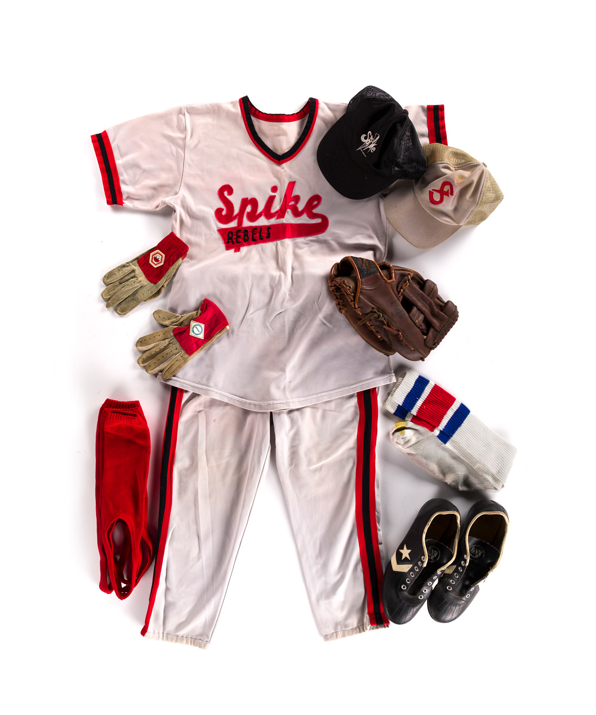 THE SPIKE. Complete softball uniform from this renowned New York leather bar.