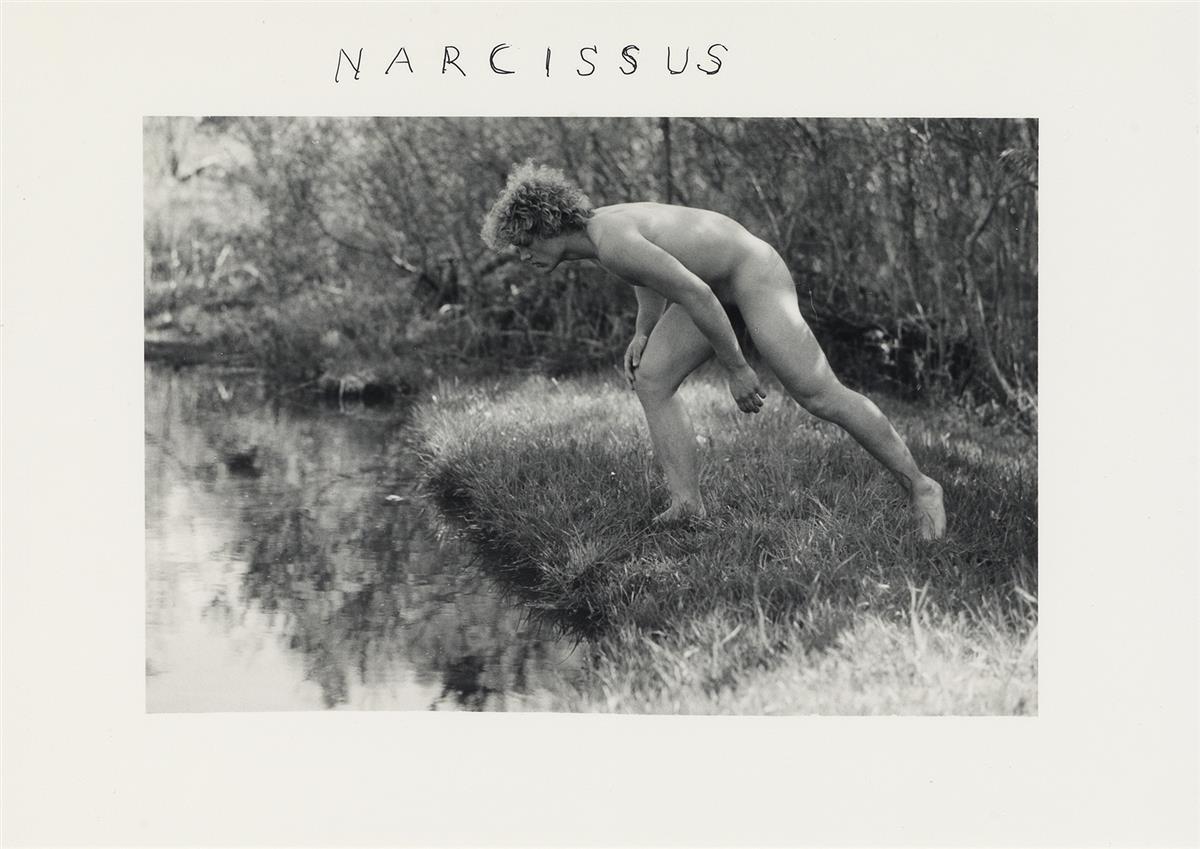 DUANE MICHALS (1932 - )  Narcissus.
