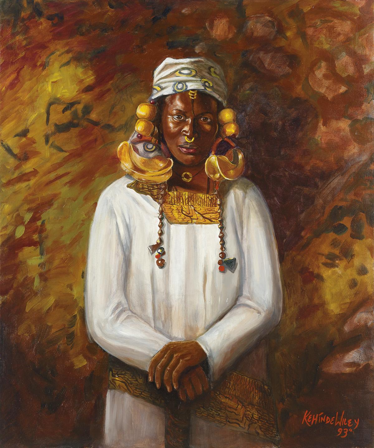 KEHINDE WILEY (1977 -  ) Untitled (Fulani).