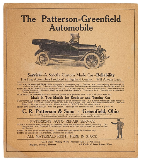 (BUSINESS.) The Patterson-Greenfield Automobile.