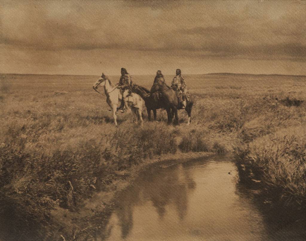 EDWARD S. CURTIS (1868-1952) Three Chiefs, Blackfoot, Montana.