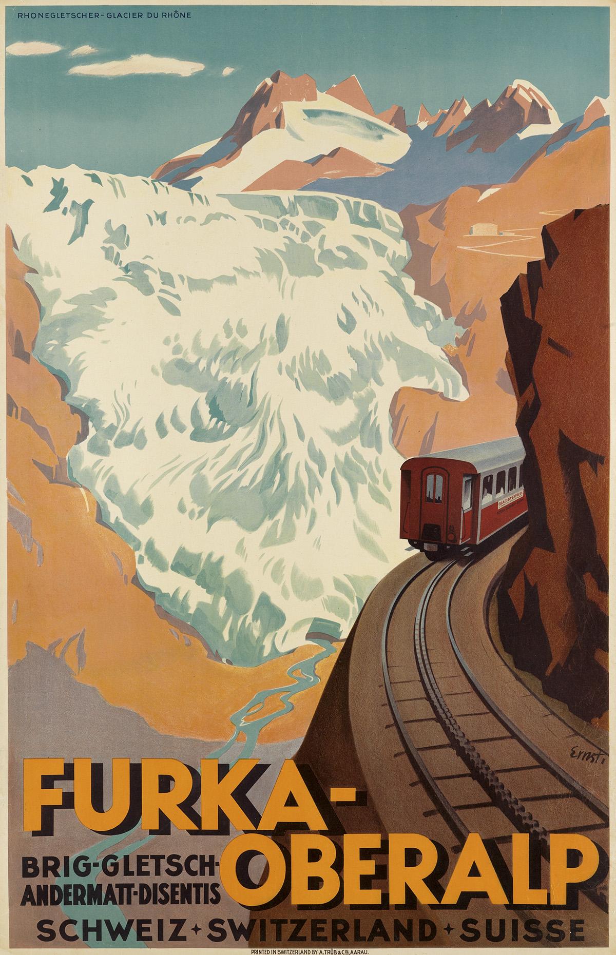 OTTO-ERNST-(1884-1967)-FURKA---OBERALP-1930-39x25-inches-99x