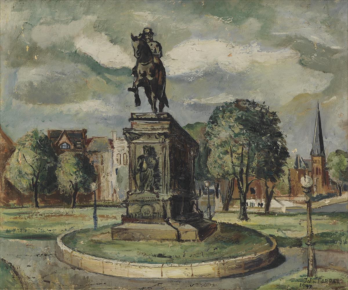 JOHN-FARRAR-(1928---1972)-Untitled-(Washington-Circle)