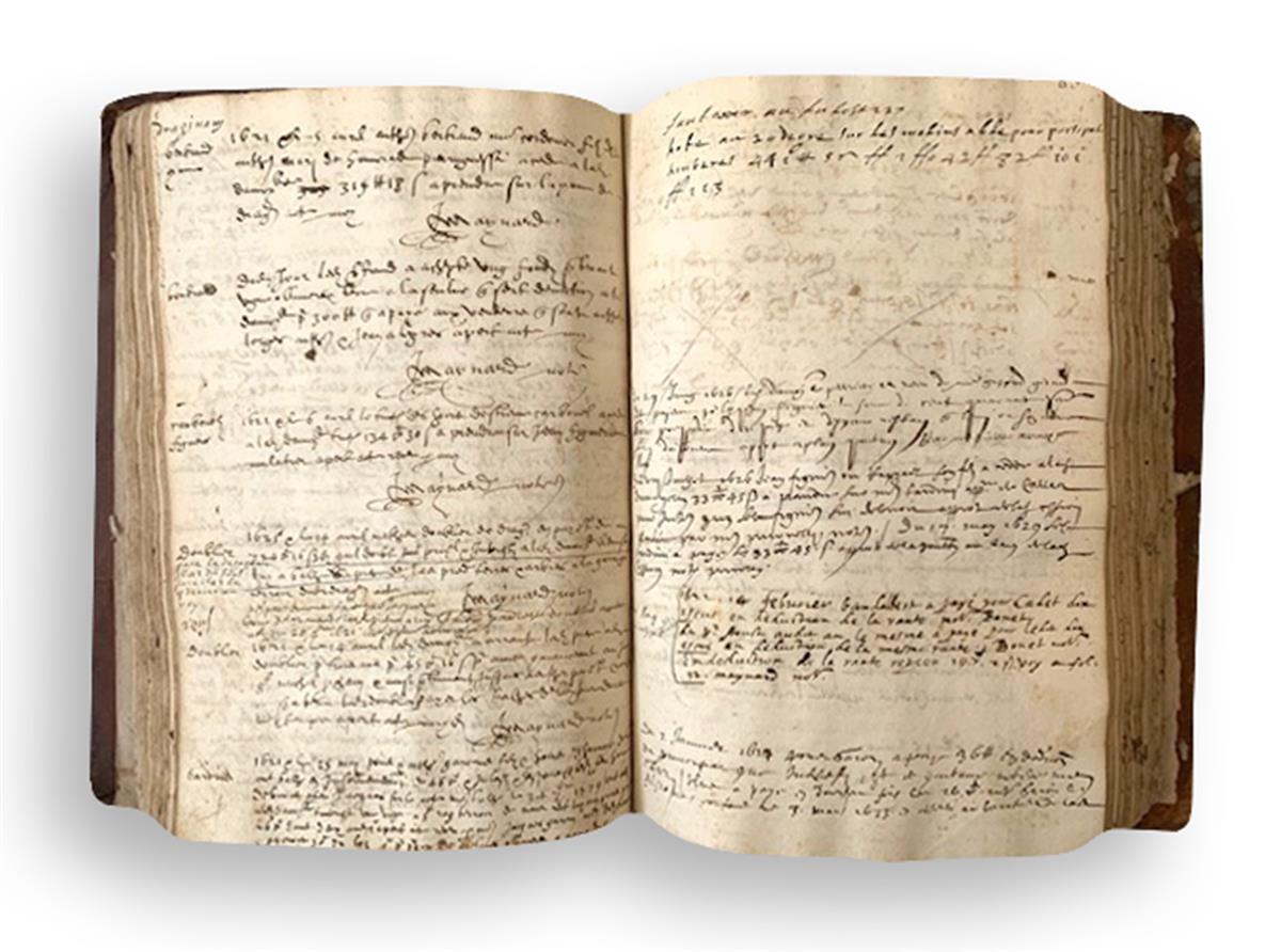 Manuscript, Notaire Royal.
