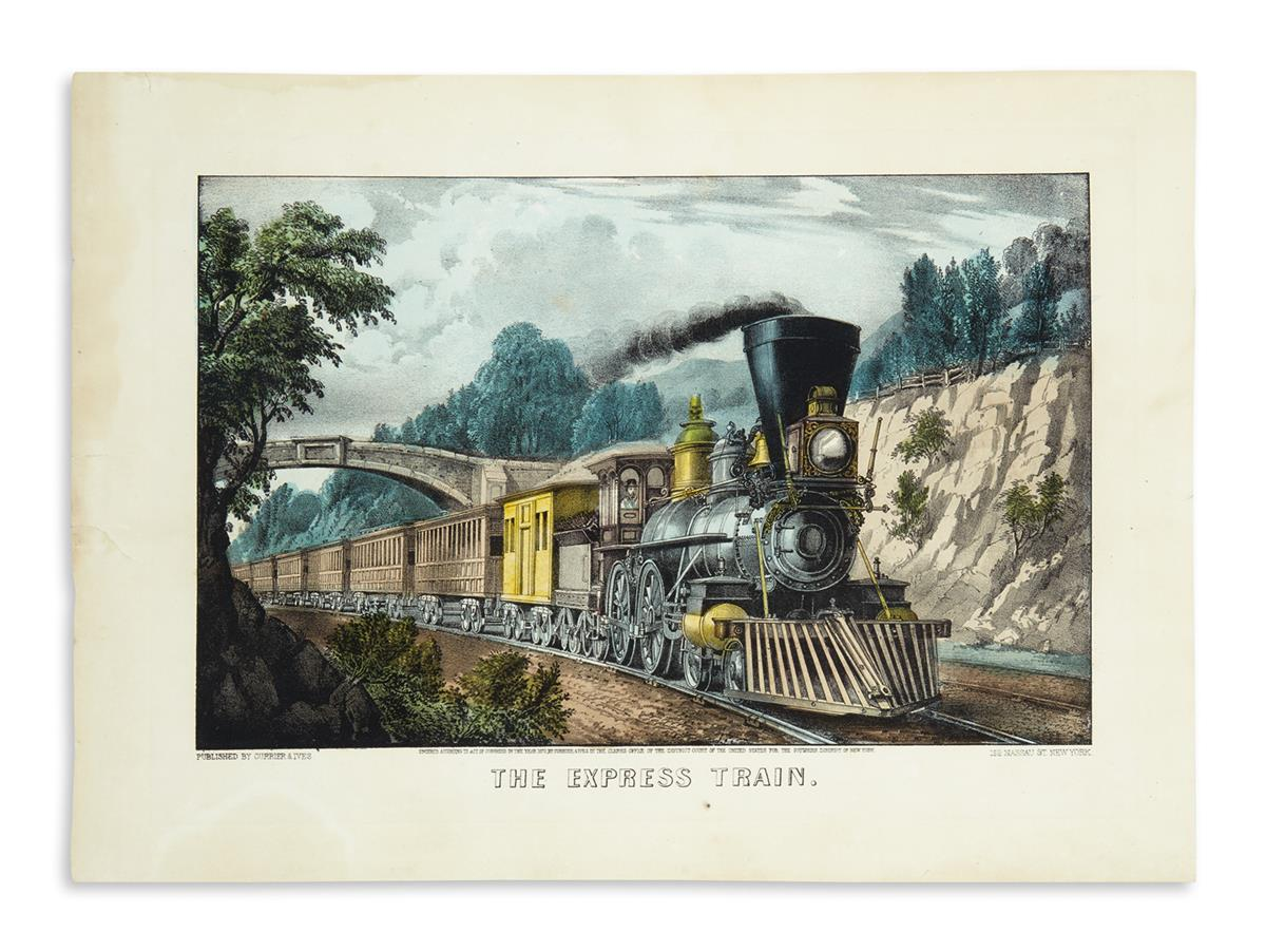 CURRIER--IVES-The-Express-Train