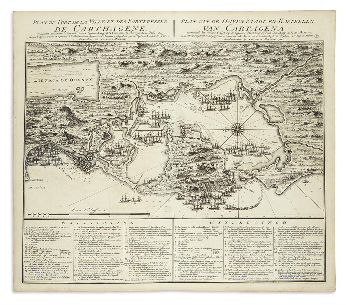 (CARTAGENA)-Covens--Mortier-after-Captain-William-Laws-Plan-