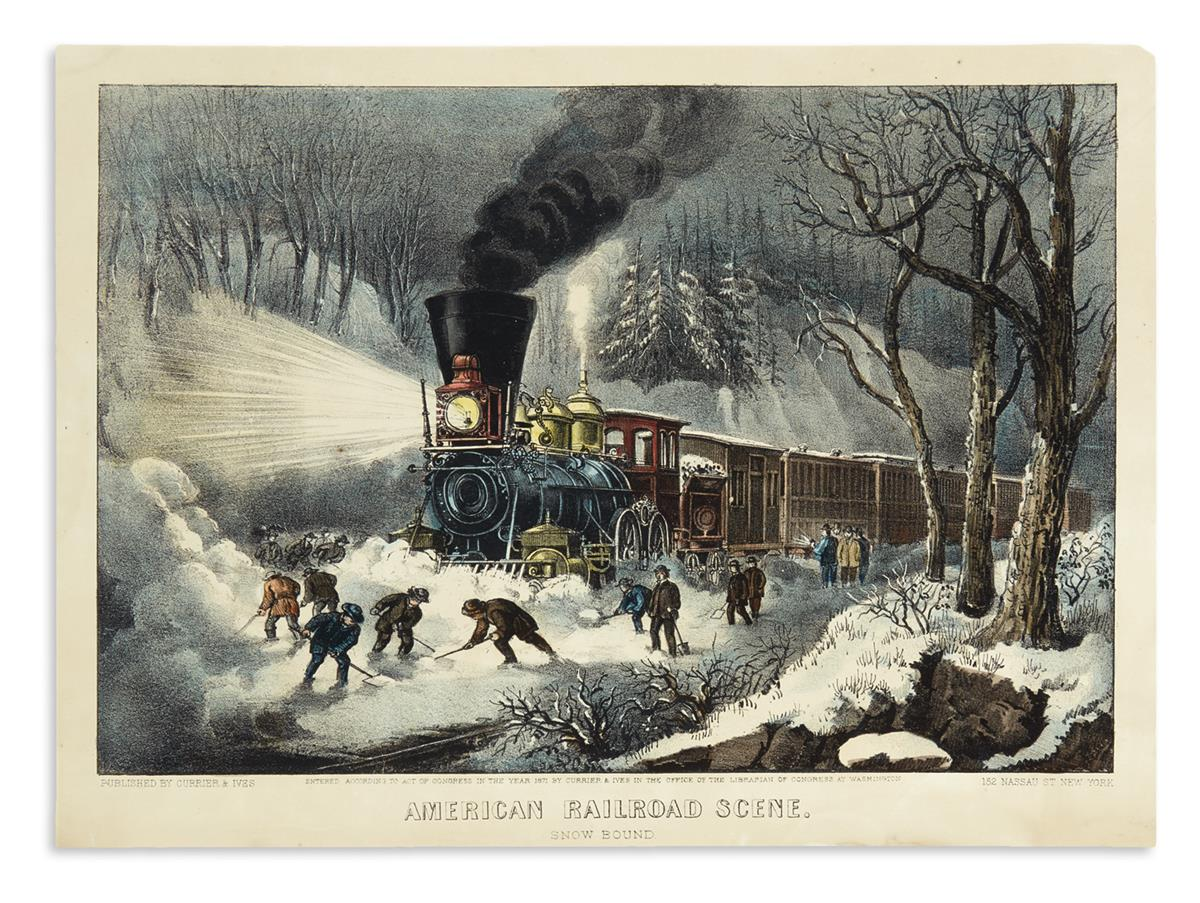 CURRIER--IVES-American-Railroad-Scene-Snow-Bound