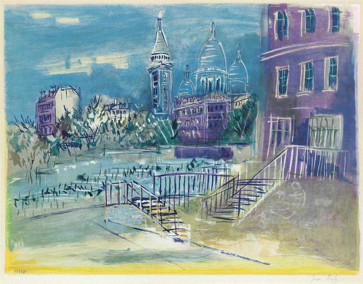 JEAN DUFY Montmartre.