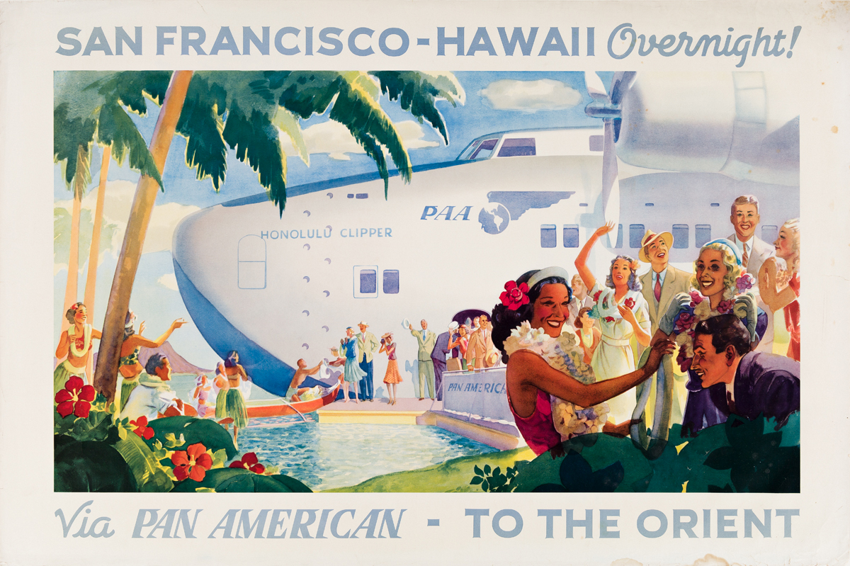 Paul George Lawler (Dates Unknown).  SAN FRANCISCO - HAWAII OVERNIGHT / VIA PAN AM - TO THE ORIENT. 1939.