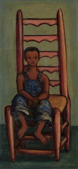ELLIS WILSON (1899 - 1977) Boy Seated on a Chair.