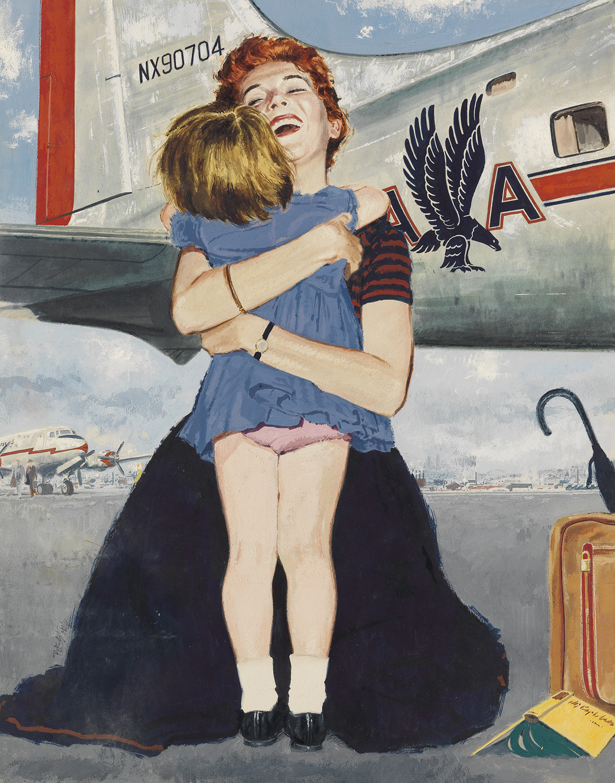 (ADVERTISING--AIR-TRAVEL)-RICHARD-STONE-Welcome-Home