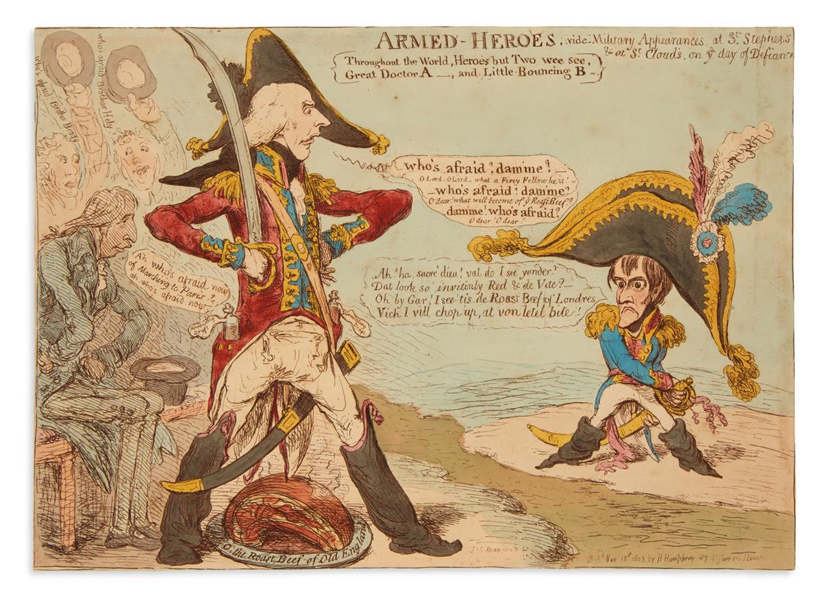 GILLRAY-JAMES-Armed-Heroes;-Vide-Military-Appearances-at-St-