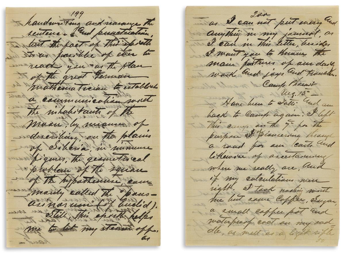 Anscher [aka Anszer], Abram (b. 1845) African Expedition, Autograph Manuscript.