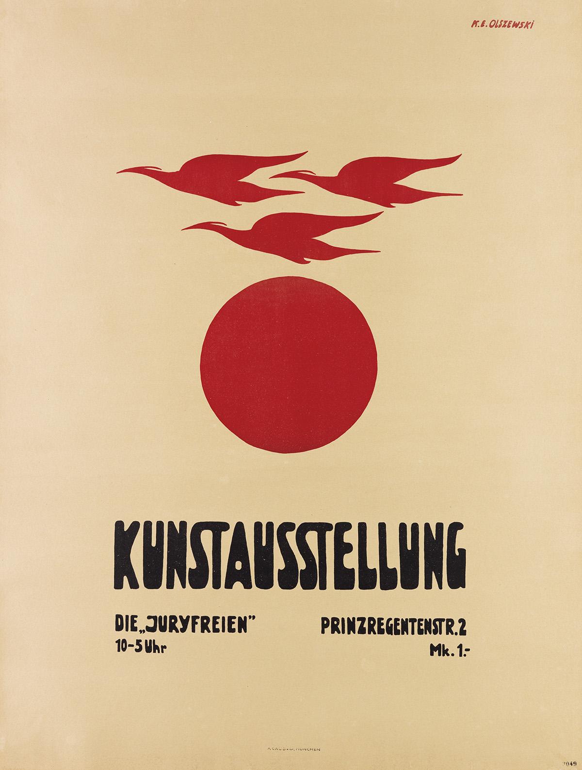KARL EWALD OLSZEWSKI (1884-1965). KUNSTAUSSTELLUNG / DIE JURYFREIEN. 1927. 40x30 inches, 103x78 cm. A. Gaus, Munich.