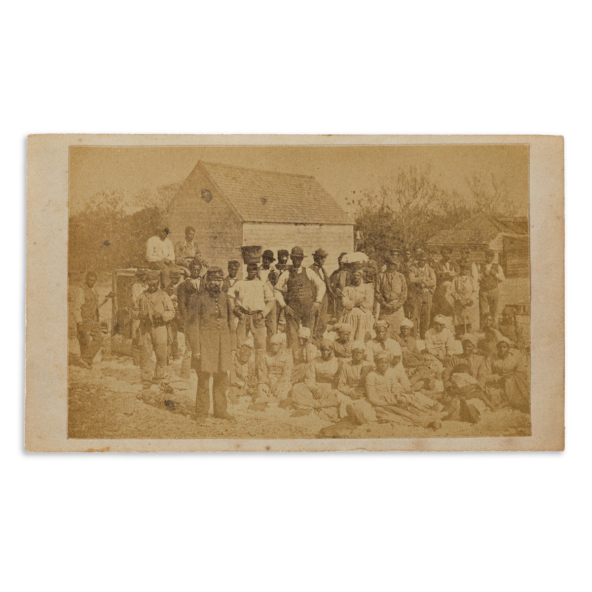 (CIVIL WAR--PHOTOGRAPHY.) Henry P. Moore. Group of 8 cartes-de-visite showing life in and near occupied Hilton Head.