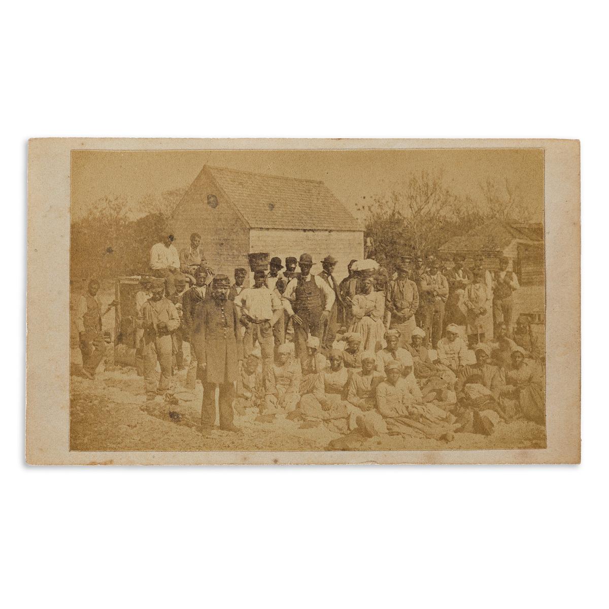 (CIVIL-WAR--PHOTOGRAPHY)-Henry-P-Moore-Group-of-8-cartes-de-