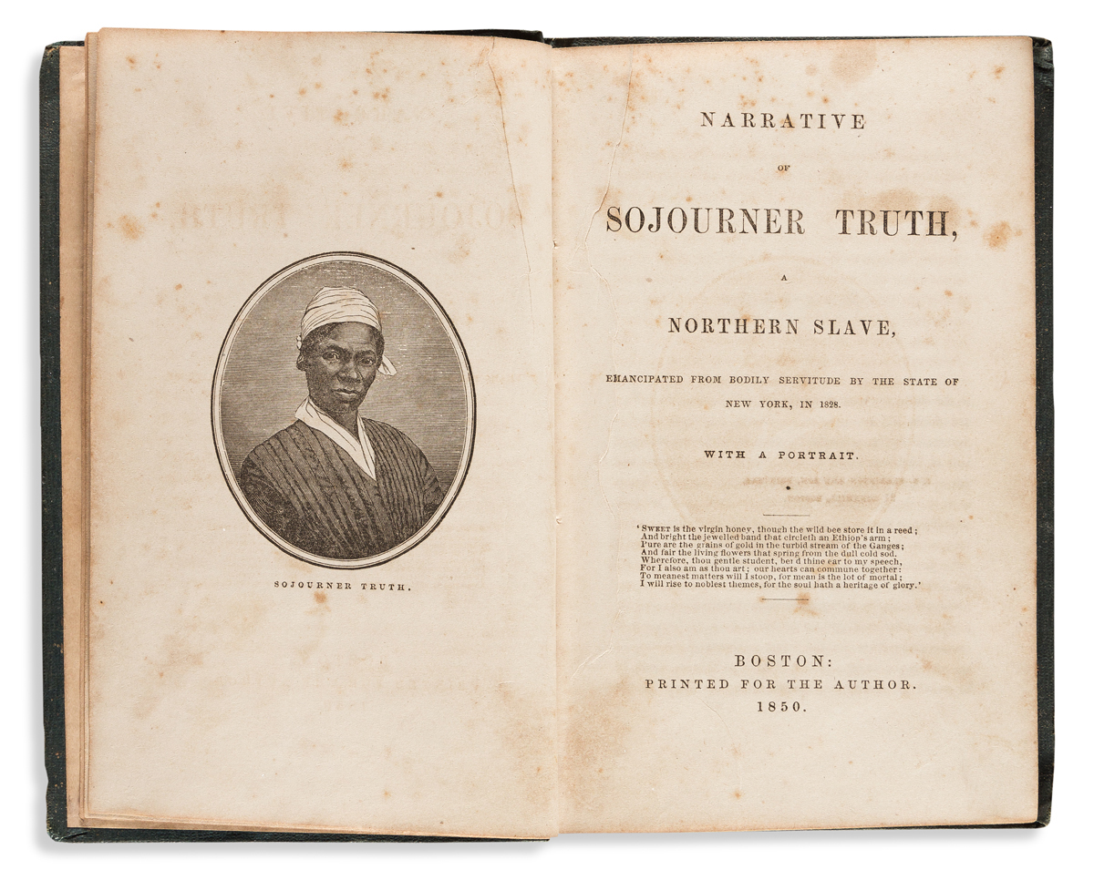 (SLAVERY AND ABOLITION.) Narrative of Sojourner Truth, a Northern Slave, Emancipated from Bodily Servitude.
