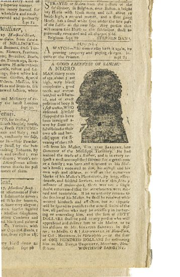 """(SLAVERY AND ABOLITION.) """"""""A Good Likeness of Sancho a Negro."""""""""""