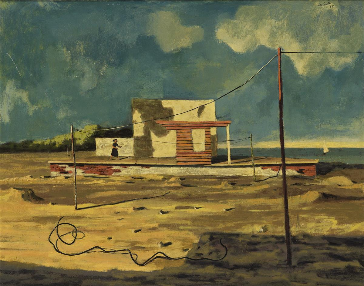 HUGHIE-LEE-SMITH-(1915---1999)-Landscape-with-Figure