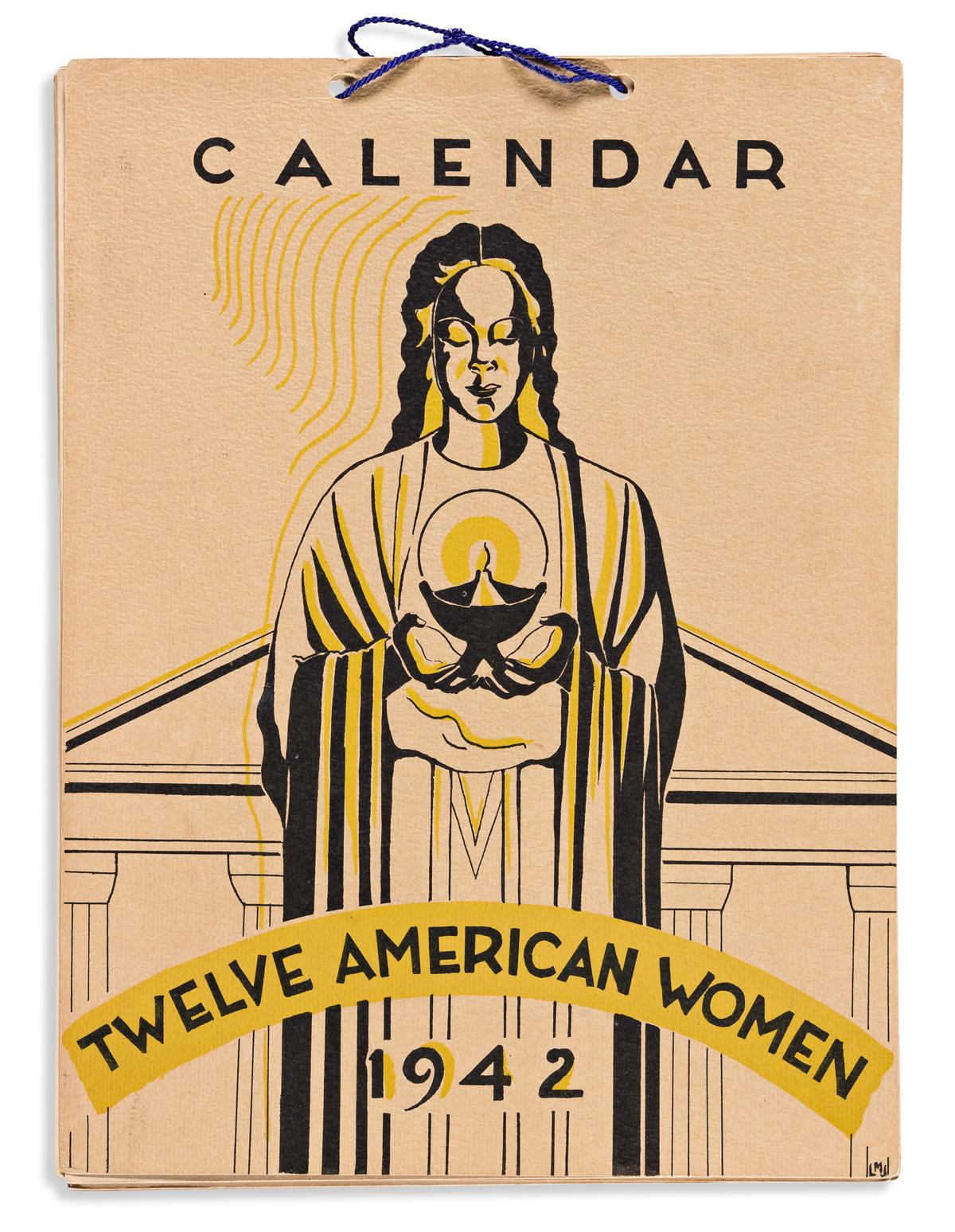 (ART.) Loïs Mailou Jones, artist. Calendar: Twelve American Women, 1942.