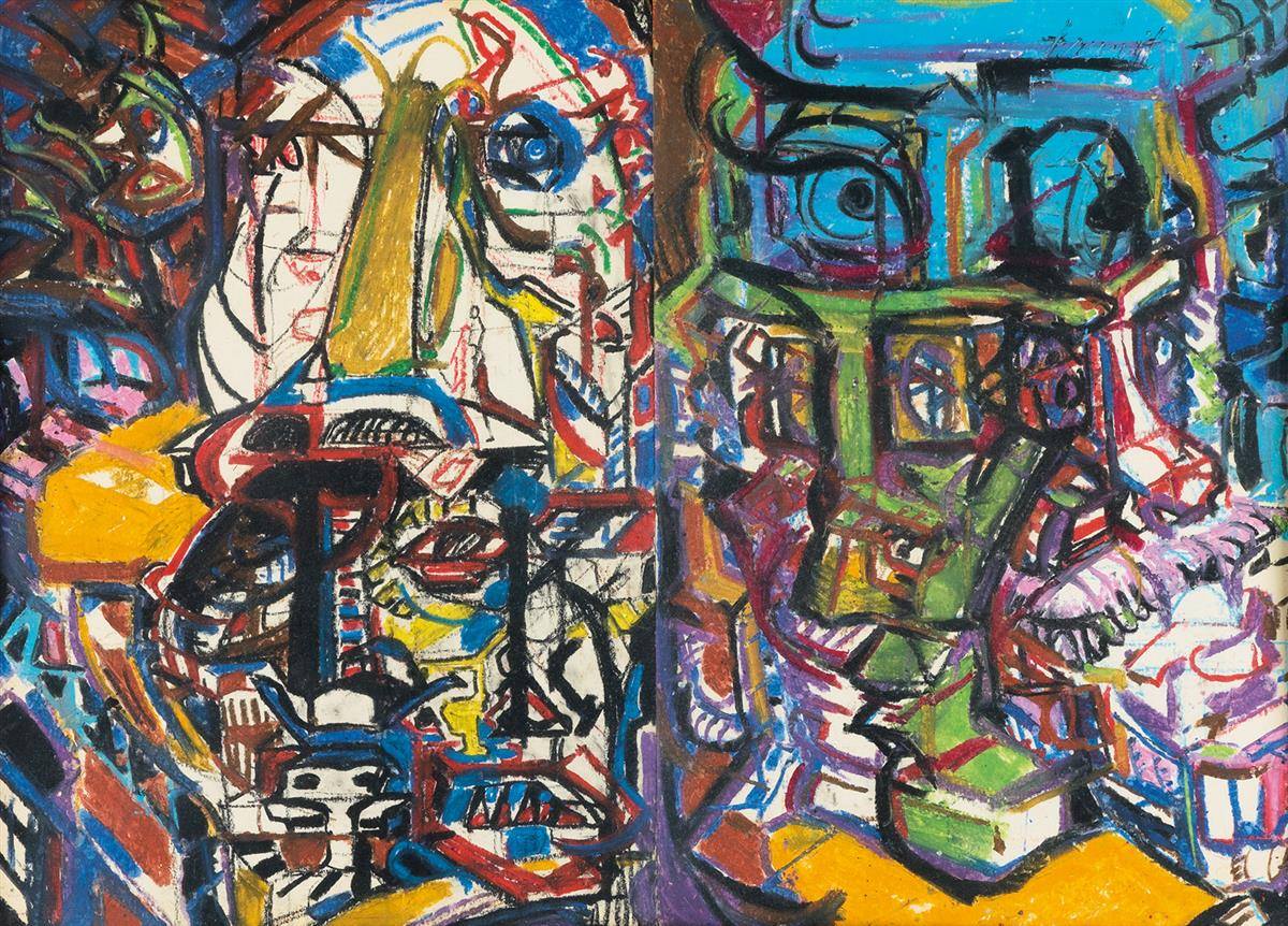 HAROLD-FRANK-Untitled-(Interior-with-Figures)
