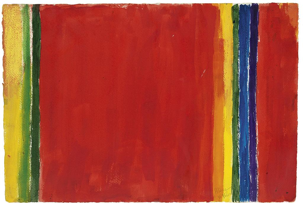 ALMA W. THOMAS (1891 - 1978) Untitled (Stripe Composition).