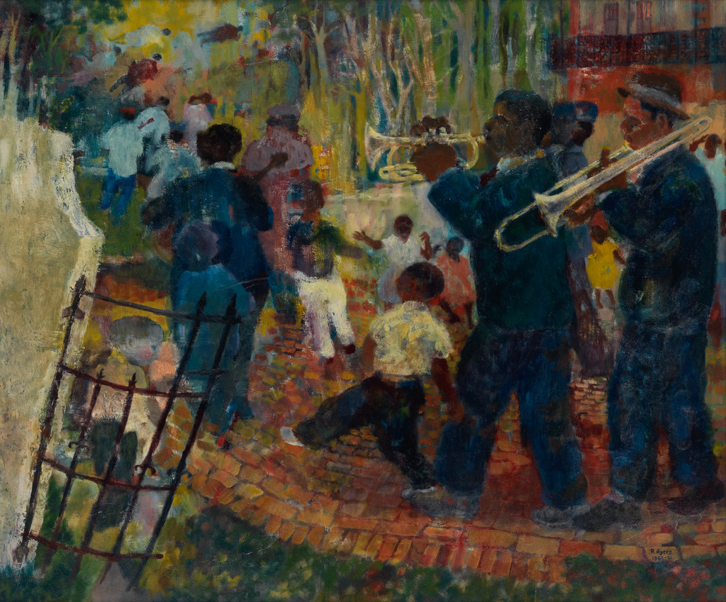 ROLAND AYERS (1932 - 2014) Untitled (New Orleans Scene).