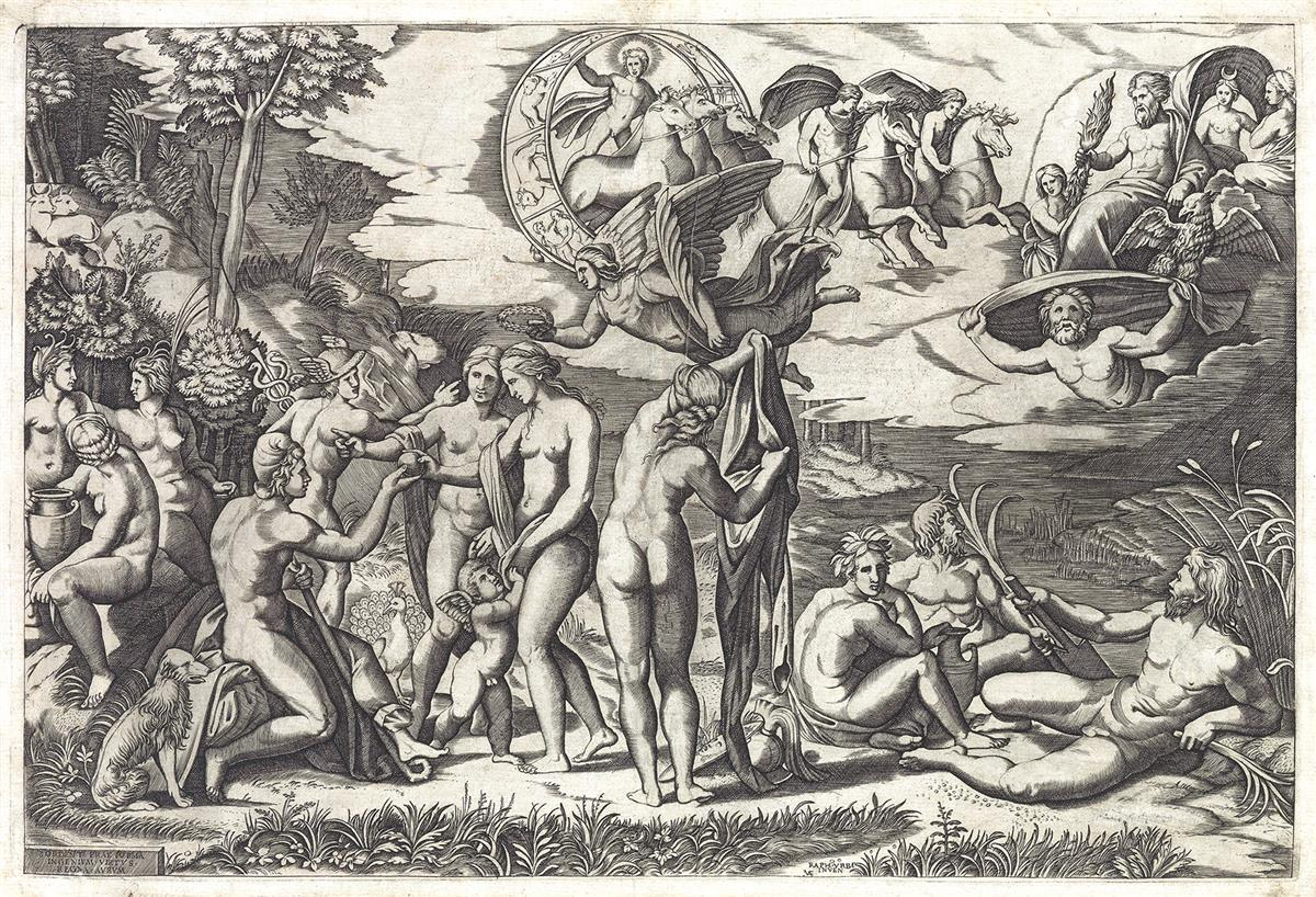 MARCANTONIO RAIMONDI (after Raphael) The Judgment of Paris