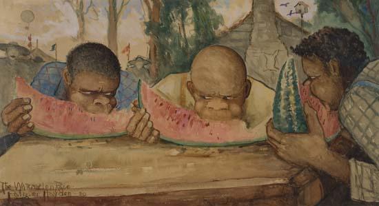 PALMER-HAYDEN-(1890---1973)-The-Watermelon-Race