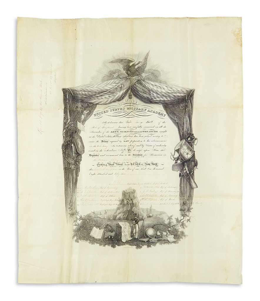 LEE-ROBERT-E-Partly-printed-vellum-Document-Signed-RELee-as-