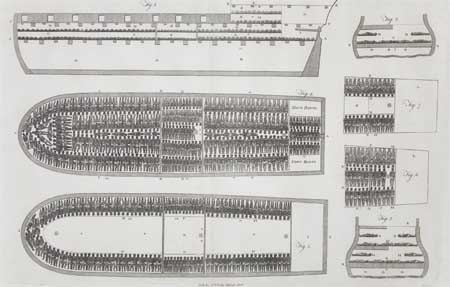 (SLAVERY AND ABOLITION.) The Slave Ship Brooke (supplied title)