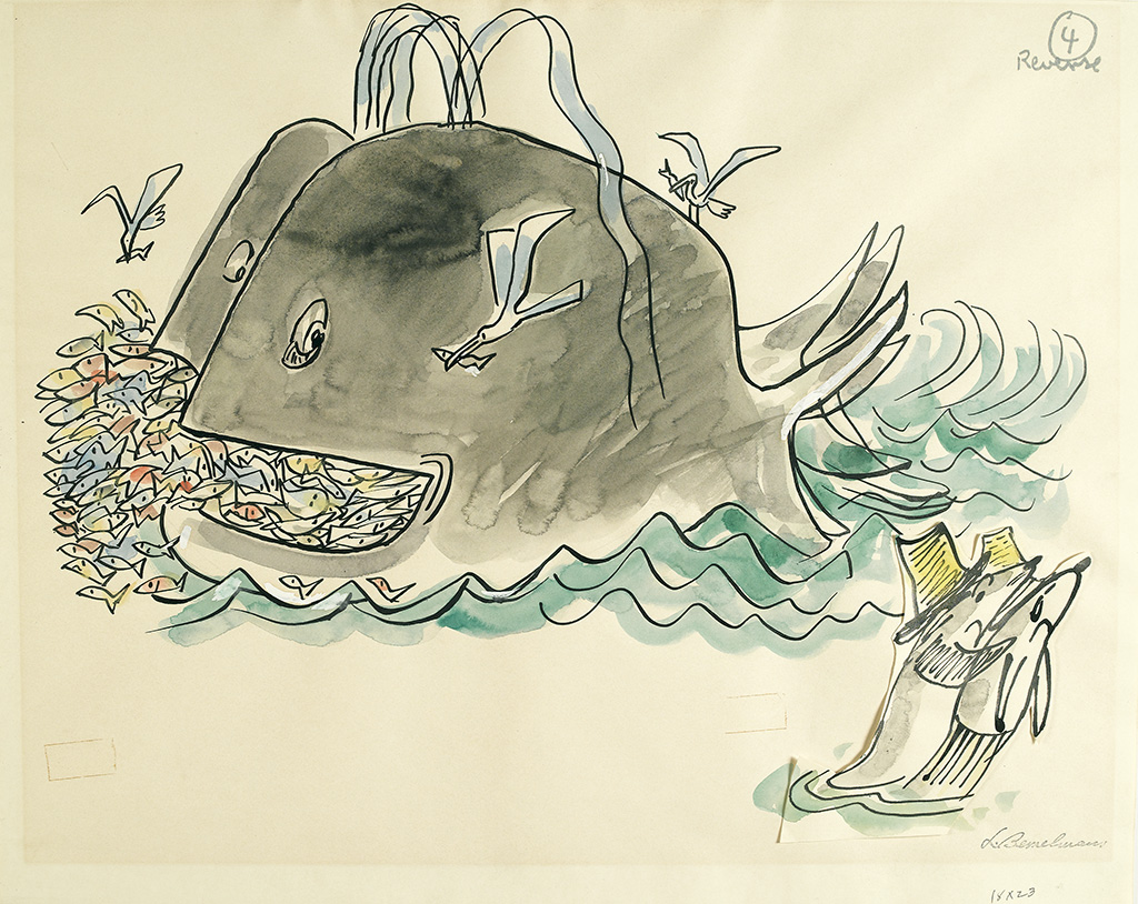 LUDWIG BEMELMANS. The whale said, Too bad--life in the ocean is very iffy....
