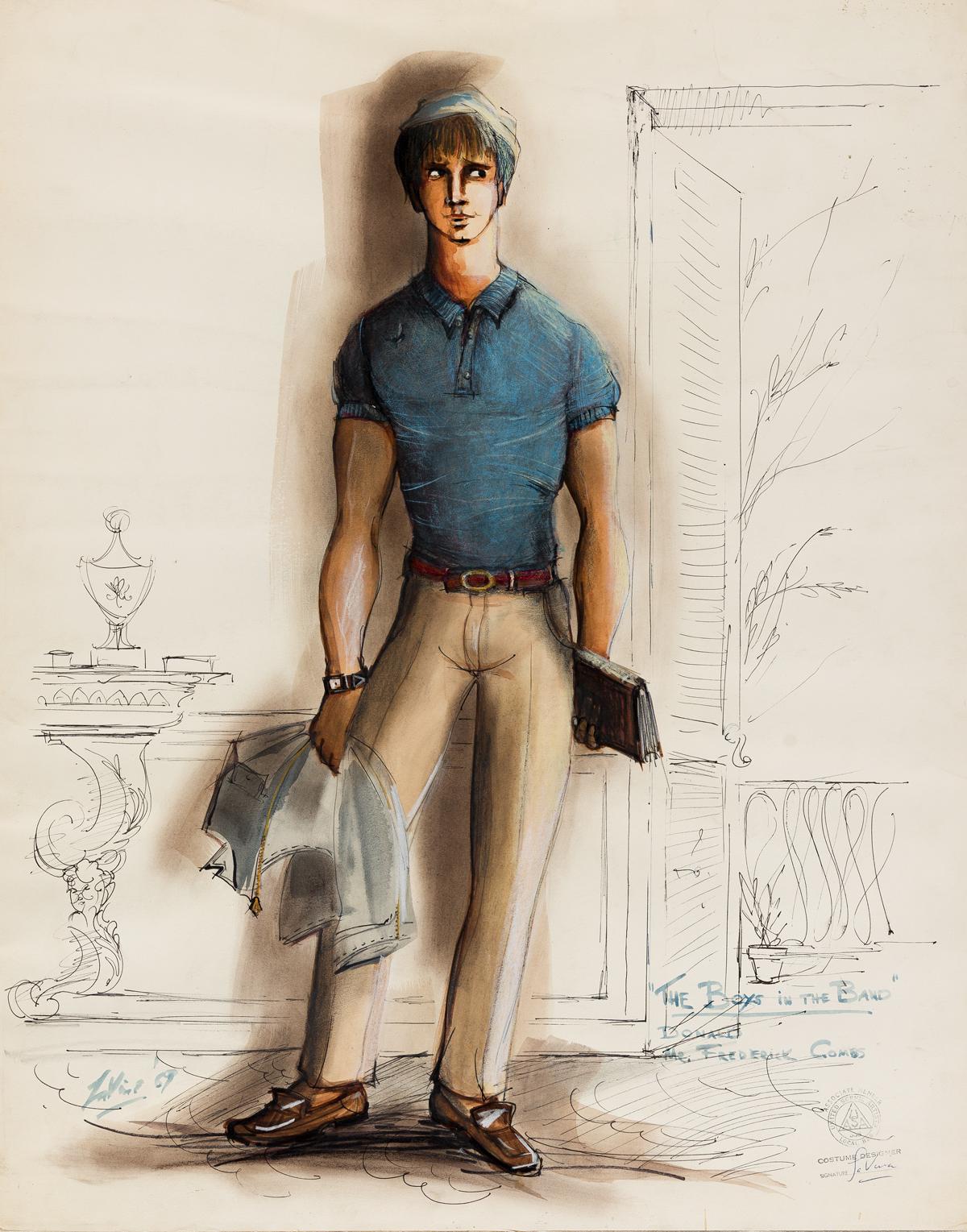 W-ROBERT-LA-VINE-(1920-1979)-Costume-design-for-the-characte