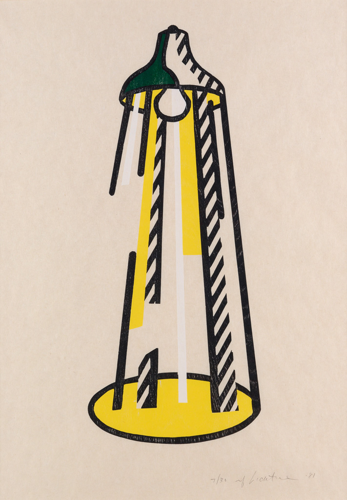 ROY LICHTENSTEIN The Lamp.