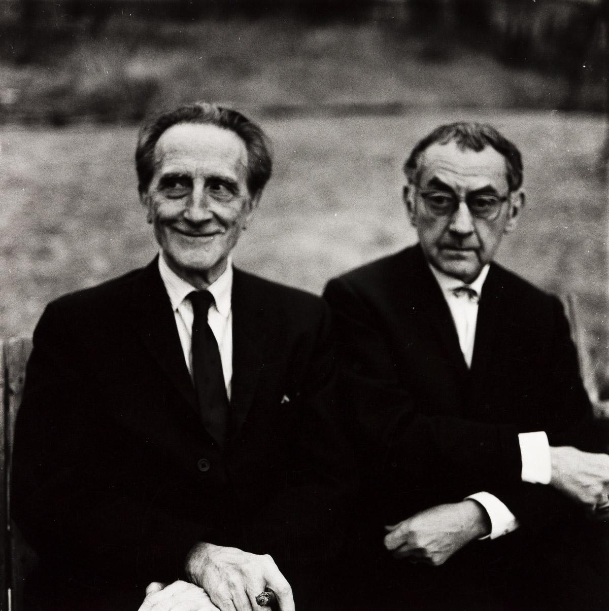 NAOMI SAVAGE (1927-2005) Marcel Duchamp and Man Ray.