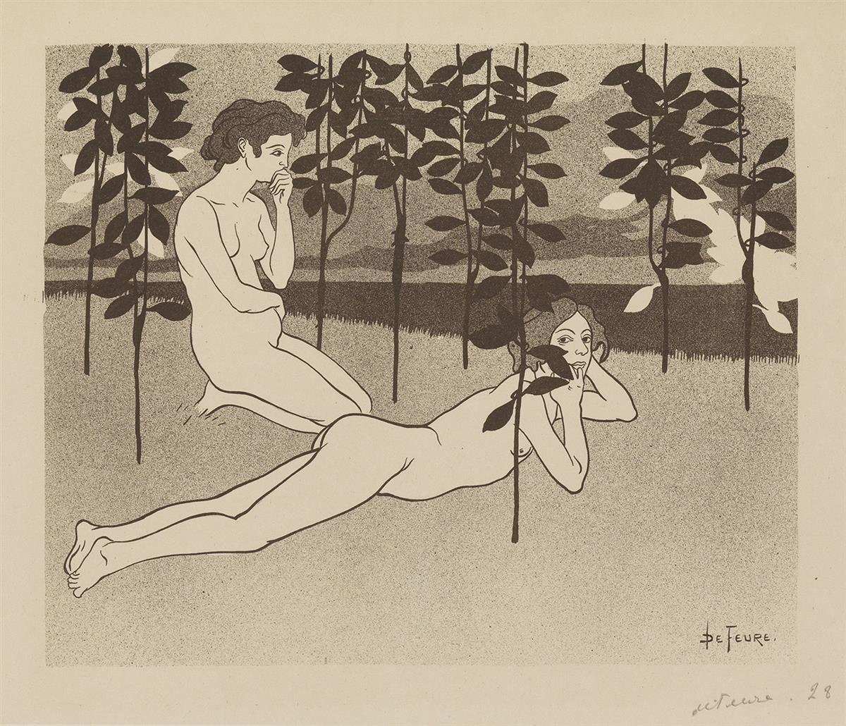 GEORGES-DE-FEURE-(1868-1943)-[LINFINI]--[RETOUR]-Two-lithogr