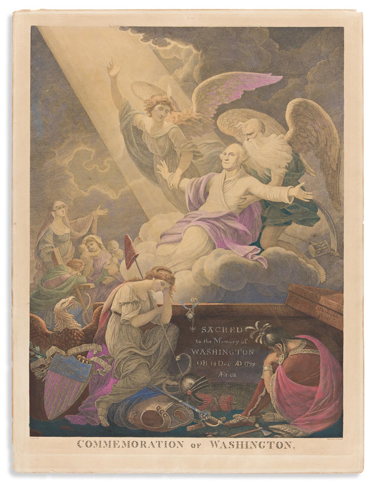(WASHINGTON.) John James Barralet, artist and engraver. Commemoration of Washington.