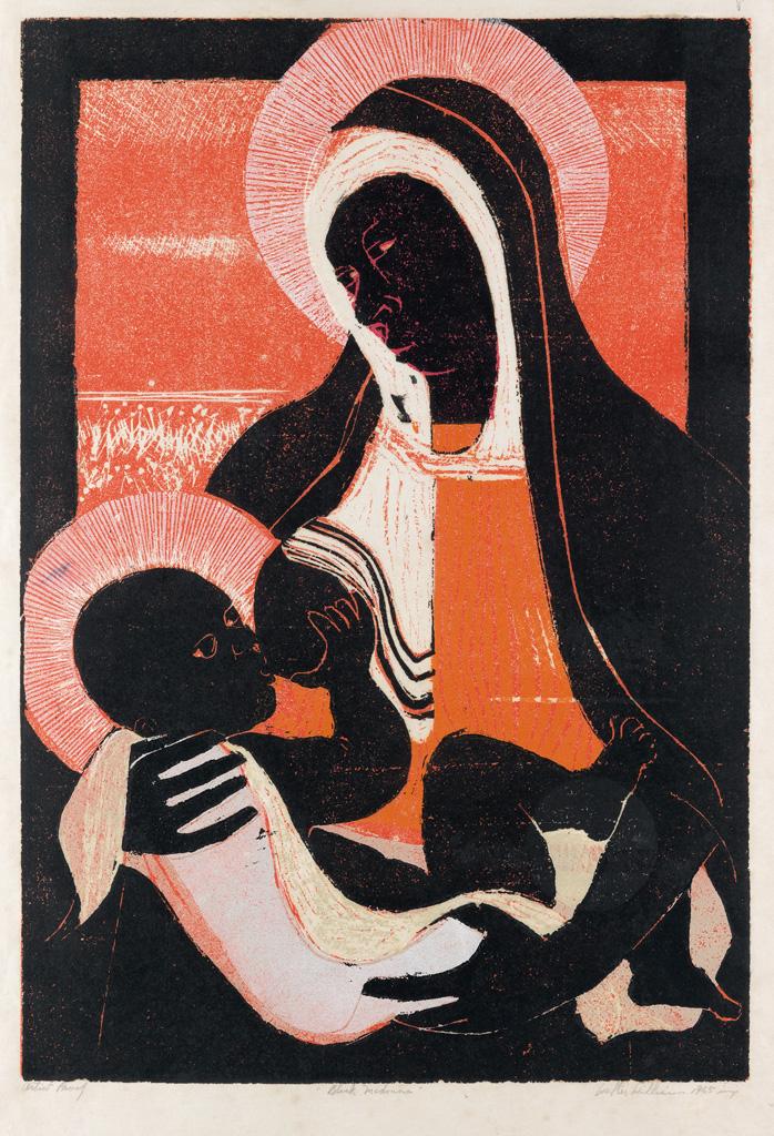 WALTER-WILLIAMS-(1920---1988)-Black-Madonna