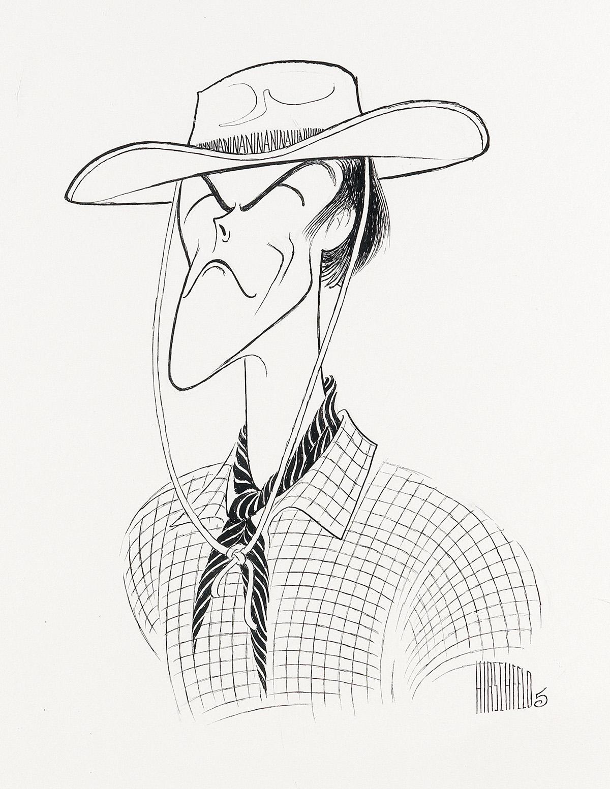 AL HIRSCHFELD. Clint--Rawhide Eastwood.