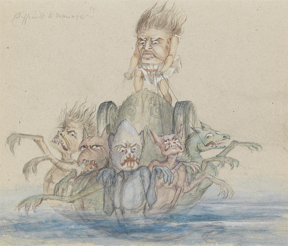 REV-GEORGE-LIDDELL-JOHNSTON-(CARICATURE)-Grotesques