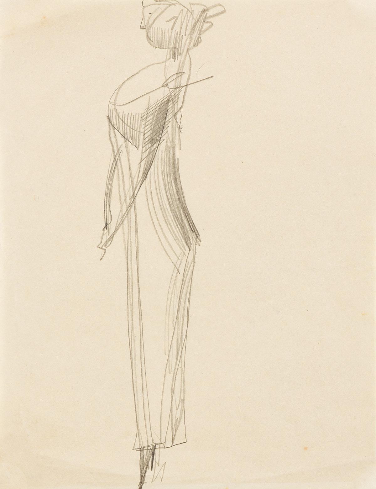 ELIE NADELMAN (1882-1946) Standing Woman in Profile.